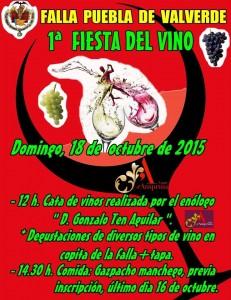 cartel 1º fiesta del vino