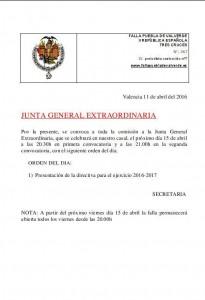 junta general 15-4-2016
